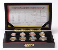 Belgien : 3,88 Euro original Kursmünzensatz der belgischen Münze  2008 PP KMS Belgien 2008 PP