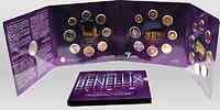 Belgien : 11,64 Euro original KMS Benelux, enthält alle Euro-Kursmünzen der Länder Belgien, Niederlande, Luxemburg + Medaille  2006 bfr KMS Benelux 2006