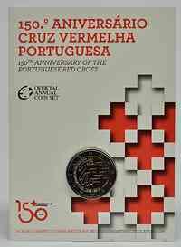 Portugal 2 Euro 150 Jahre Rotes Kreuz 2015 Stgl.