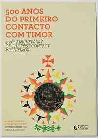 Portugal 2 Euro 500 Jahre seit dem ersten Kontakt mit Timor 2015 Stgl.