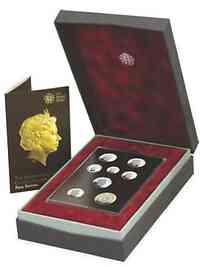 """Großbritannien : 3,88 Pfund Kursmünzensatz """"Porträt der Kursmünzen"""" Silber   PP"""