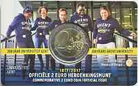Belgien 2 Euro Gent 2017 Stgl. FR-Version
