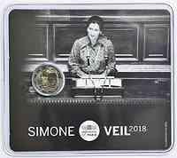 Frankreich : 2 Euro Simone Veil  2018 Stgl.