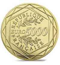 5000 Euro Marianne 2018 Stgl. Frankreich