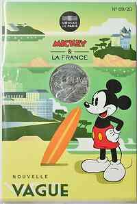 Frankreich : 10 Euro Wellenreiter 9/20  2018 bfr