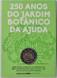 Portugal : 2 Euro 250 Jahre Botanischer Garten von Ajuda  2018 Stgl.