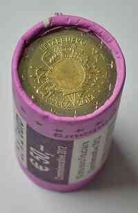 Luxemburg : 2 Euro 25x2 Euro 10 Jahre Euro Bargeld in Originalrolle - Sichtrolle  2012 Stgl.