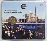 2 Euro Mauerfall 2019 Stgl. Frankreich in Coincard