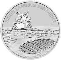 Australien : 1 Dollar 50 Jahre Mondlandung - Bullion 1 oz  2019 Stgl.