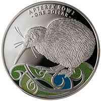 Neuseeland : 1 Dollar Kiwi colored  1oz  2020 PP