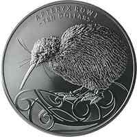 Neuseeland : 10 Dollar Black Nickel Kiwi 5oz 2020 PP