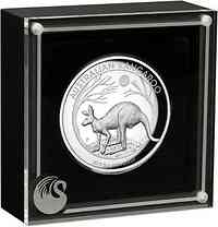 Australien : 8 Dollar Känguru 5 oz - Highrelief 2019 PP