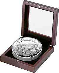 Somalia : 100 Schilling Elefant - Highrelief - in Box 2020 PP