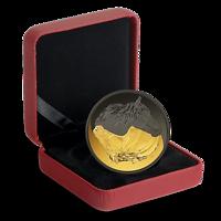 Kanada : 20 Dollar Schwarz&Gold - Kan. Pferd m. Rhodium- u. Goldauflage  2020 PP