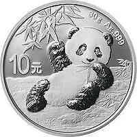 China : 10 Yuan Silberpanda 2020 Stgl.
