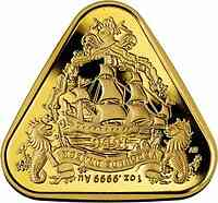Australien : 100 Dollar Segelschiff Gilt Dragon - Dreiecksmünze 1 oz  2020 Stgl.