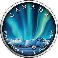 Kanada : 5 Dollar Maple Leaf - Nordlichter Jasper Nat. Park #1 2020 Stgl.
