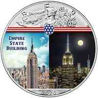 USA : 1 Dollar Silber Eagle - Empire State Building #1  2020 Stgl.