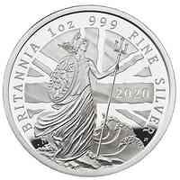 Großbritannien : 2 Pound Britannia 1 Oz 2020 PP