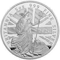 Großbritannien : 500 Pound Britannia 5 Oz  2020 PP
