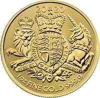 Großbritannien : 100 Pfund Royal Arms   1 oz  2020 Stgl.