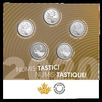 Kanada : 5x25 Cent Numis-Tastic! Set - verschiedene Finishs  2020 bfr