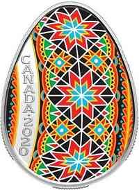 Kanada : 20 Dollar Traditional Pysanka - eiförmig  2020 PP