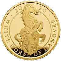 Großbritannien : 100 Pound The Queen´s Beasts #8 - Weißes Pferd von Hannover 1oz 2020 PP
