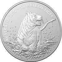Australien : 1 Dollar Sumatra Tiger - Australian Zoo 1 oz 2020 Stgl.