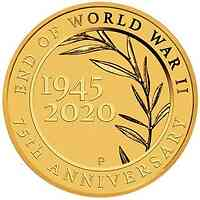Australien : 2 Dollar 75 Jahre Ende des 2. Weltkrieges 2020 Stgl.