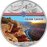 USA : 1 Dollar Silber Eagle – Grand Canyon #6  2020 Stgl.