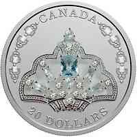 Kanada : 20 Dollar Aquamarin Tiara der Queen - mit Swarowski 2020 PP
