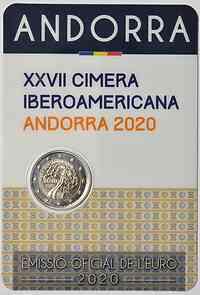 2 Euro Iberoamerikanisches Gipfeltreffen 2020 bfr Andorra