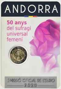 2 Euro Frauenwahlrecht 2020 bfr Andorra