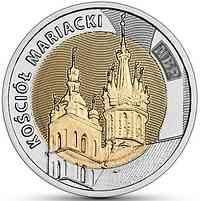Polen : 5 Zloty Entdecke Polen #11 - Marien Basilika in Krakau  2020 Stgl.