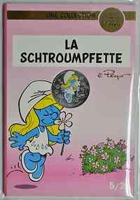 Frankreich : 10 Euro Schlumpfine 5/20  2020 Stgl.