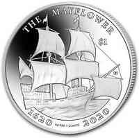 Britische Karibik : 1 Dollar BVI - Mayflower 1 oz  2020 Stgl.
