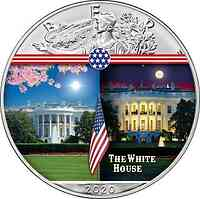 USA : 1 Dollar Silber Eagle – White House #7  2020 Stgl.