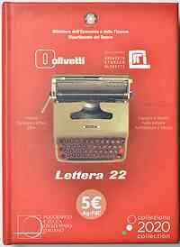 Italien : 5 Euro Olivetti rot  2020 Stgl.