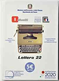 Italien : 5 Euro Olivetti weiß  2020 Stgl.