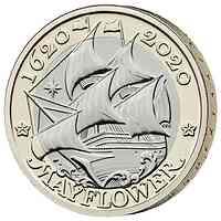 Großbritannien : 2 Pfund Reise der Mayflower - Blister  2020 Stgl.