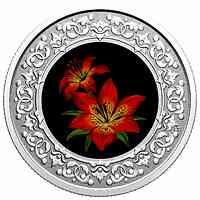 Kanada : 3 Dollar Blumenembleme von Kanada - Saskatchewan   2020 PP