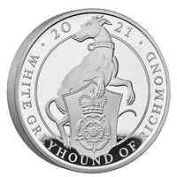 Großbritannien : 500 Pfund The Queen´s Beasts #10 - Greyhound  2021 PP