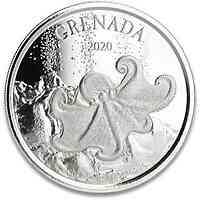 Grenada : 2 Dollar Grenada - Oktopus  1 oz  2020 Stgl.