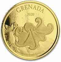 Grenada : 10 Dollar Grenada - Oktobus  1 oz  2020 Stgl.