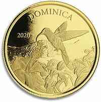 Dominica : 10 Dollar Dominica - Kolibri  1 oz  2020 Stgl.