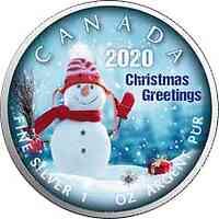 Kanada : 5 Dollar Maple Leaf in Farbe  2020 Stgl.