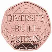 Großbritannien : 0,5 Pfund Feier der britischen Vielfältigkeit Piedfort 2020 PP