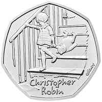 Großbritannien : 0,5 Pfund Winnie the Pooh Collection-Christopher Robin   2020 Stgl.