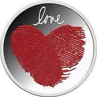 Ghana : 2 Cedi Liebesmünze  2021 PP